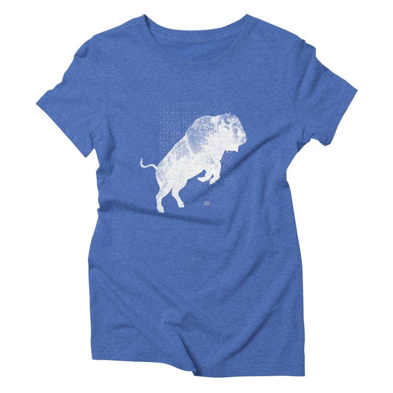 Buffalo Buffalo Bison Women's Triblend T-Shirt by Buffalo Buffalo Buffalo