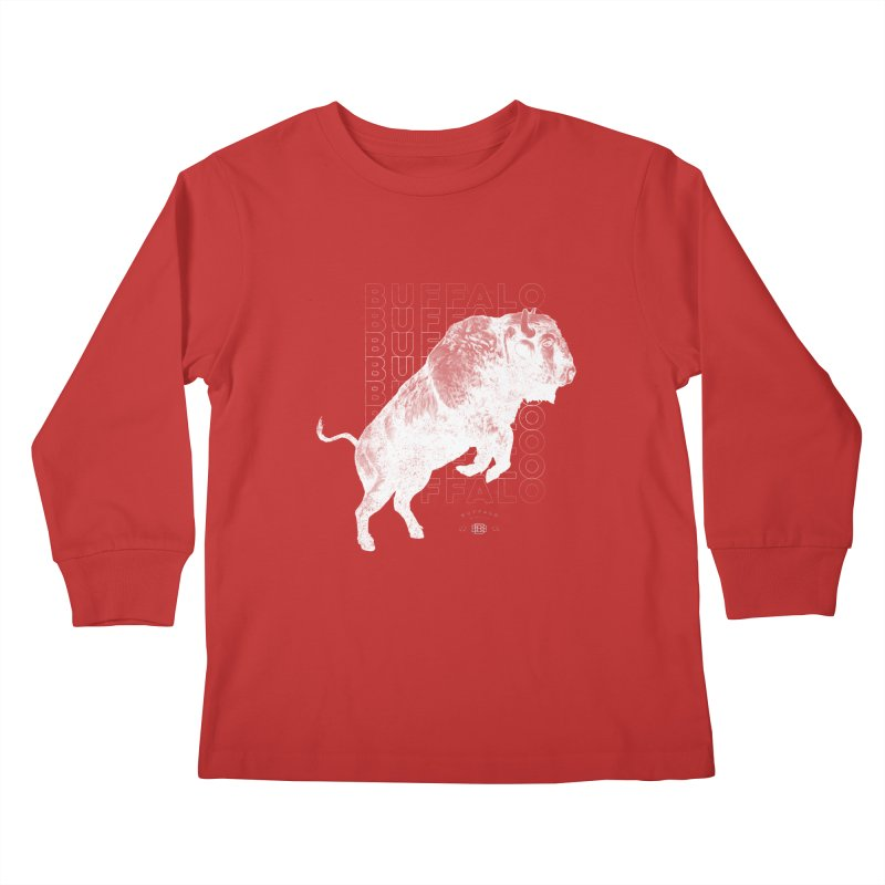 Buffalo Buffalo Bison Kids Longsleeve T-Shirt by Buffalo Buffalo Buffalo