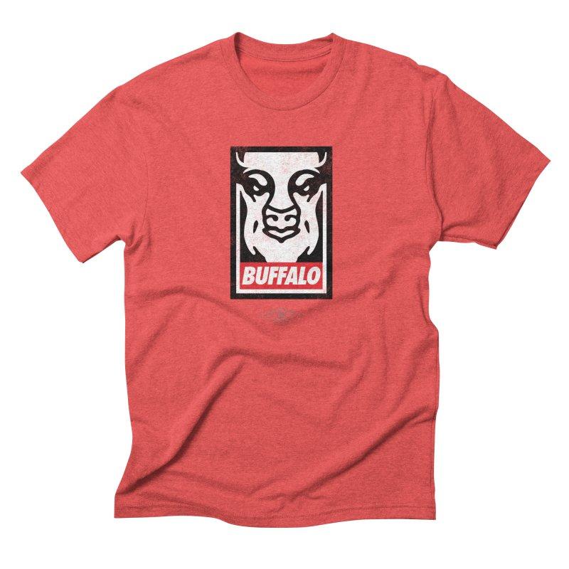 Obey the Buffalo Men's Triblend T-Shirt by Buffalo Buffalo Buffalo