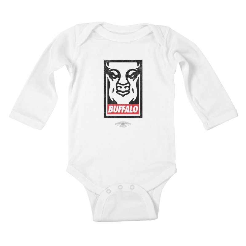 Obey the Buffalo Kids Baby Longsleeve Bodysuit by Buffalo Buffalo Buffalo
