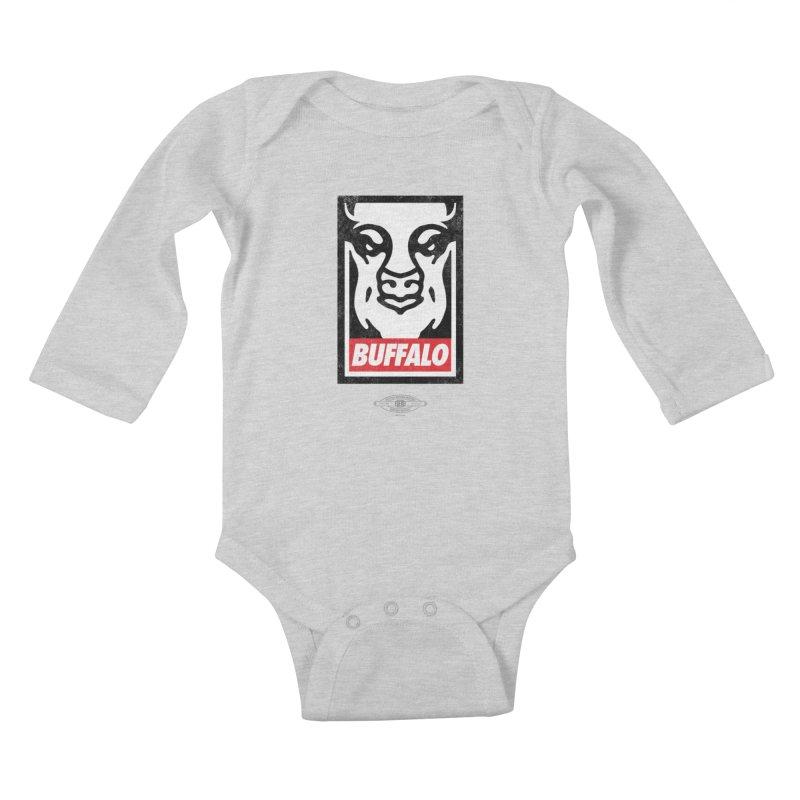 Obey the Buffalo Kids Baby Longsleeve Bodysuit by Buffalo Buffalo Buffalo
