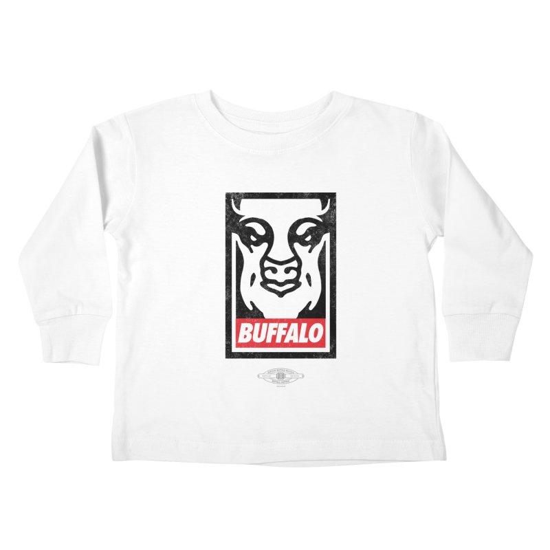 Obey the Buffalo Kids Toddler Longsleeve T-Shirt by Buffalo Buffalo Buffalo