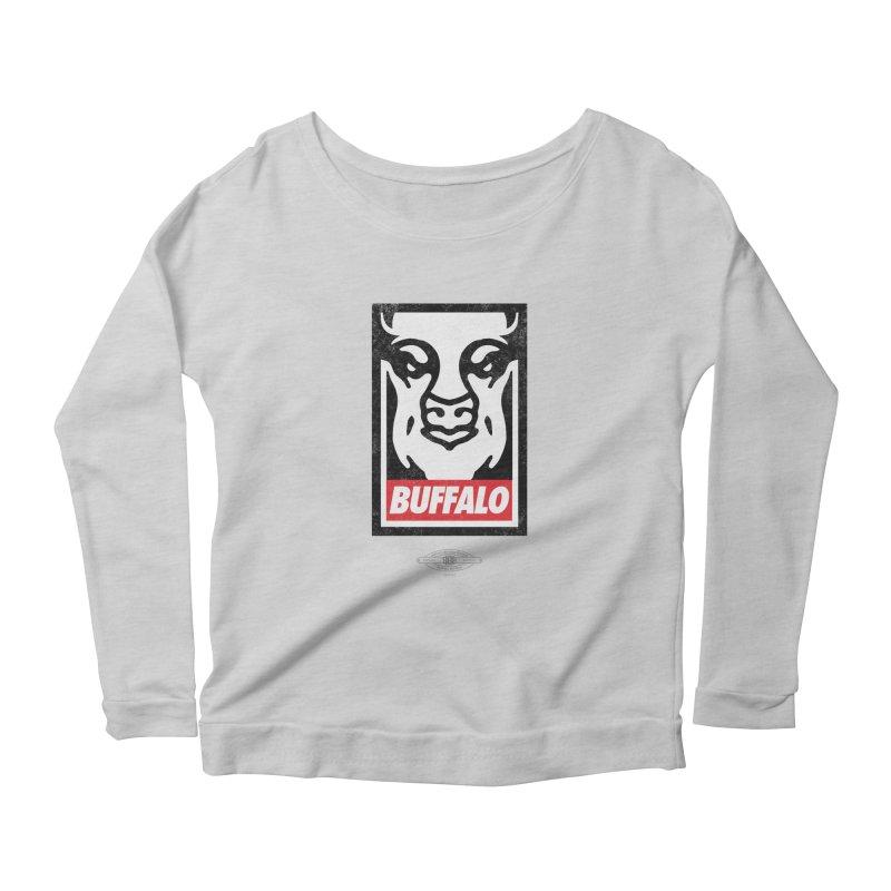 Obey the Buffalo Women's Scoop Neck Longsleeve T-Shirt by Buffalo Buffalo Buffalo