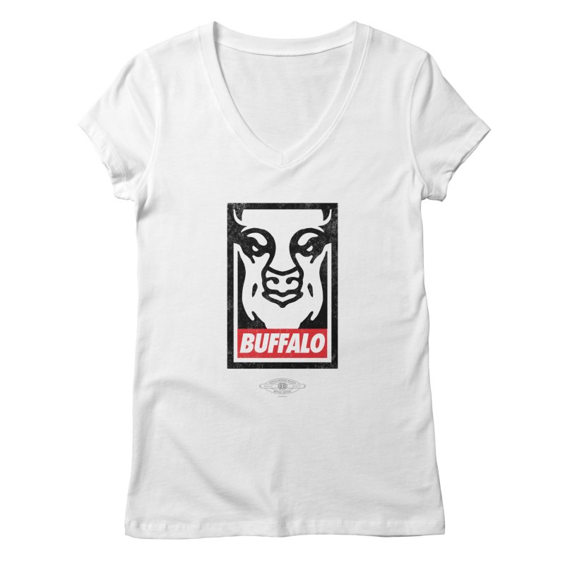 Obey the Buffalo Women's V-Neck by Buffalo Buffalo Buffalo