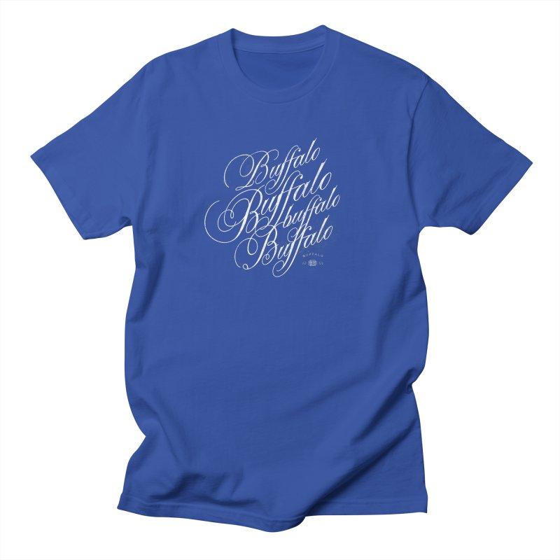 Buffalo Buffalo Script Men's T-shirt by Buffalo Buffalo Buffalo