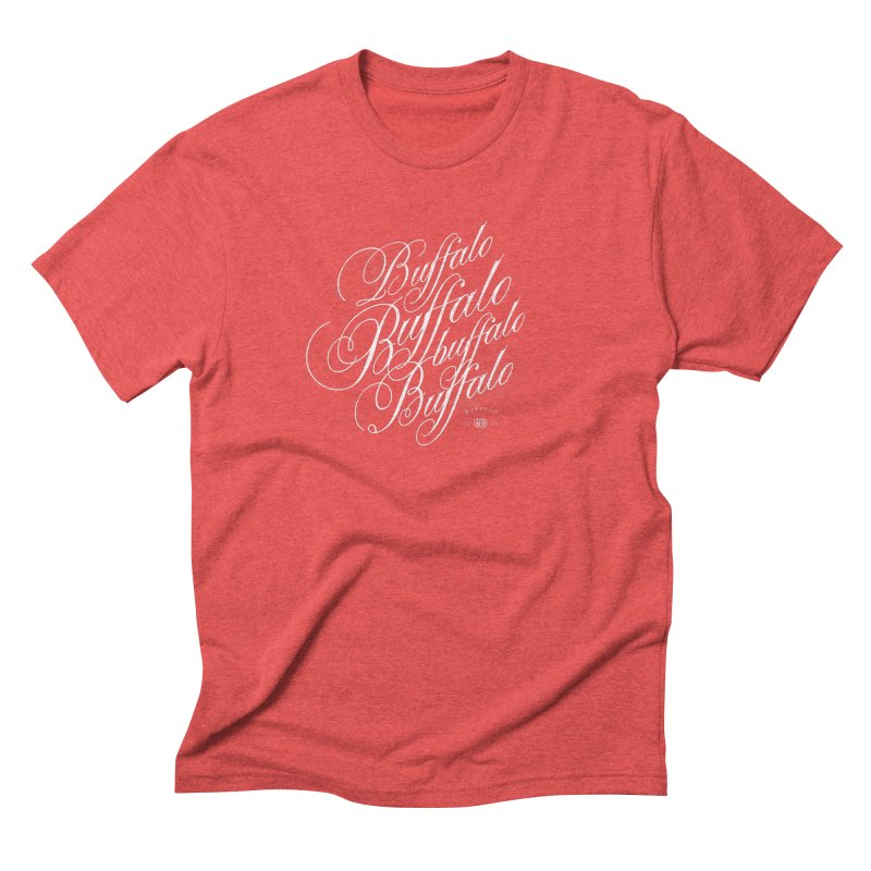 Buffalo Buffalo Script Men's Triblend T-Shirt by Buffalo Buffalo Buffalo