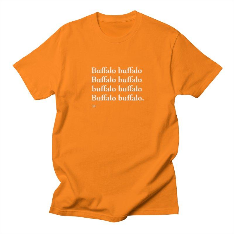 Buffalo Buffalo Words Men's T-Shirt by Buffalo Buffalo Buffalo