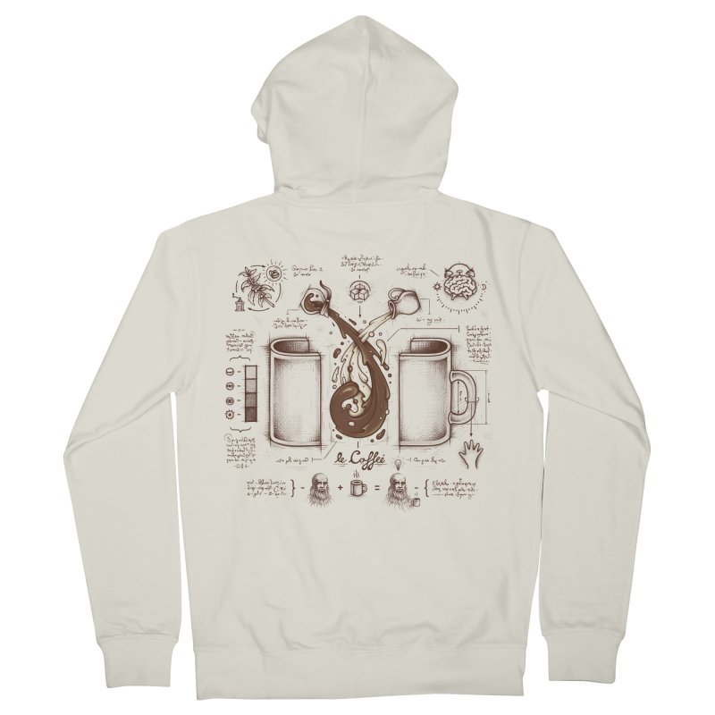 Le Coffee (Fluid of Creativity) Women's Zip-Up Hoody by Buko