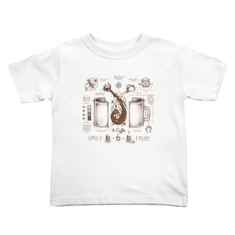Le Coffee (Fluid of Creativity) Kids Toddler T-Shirt by Buko
