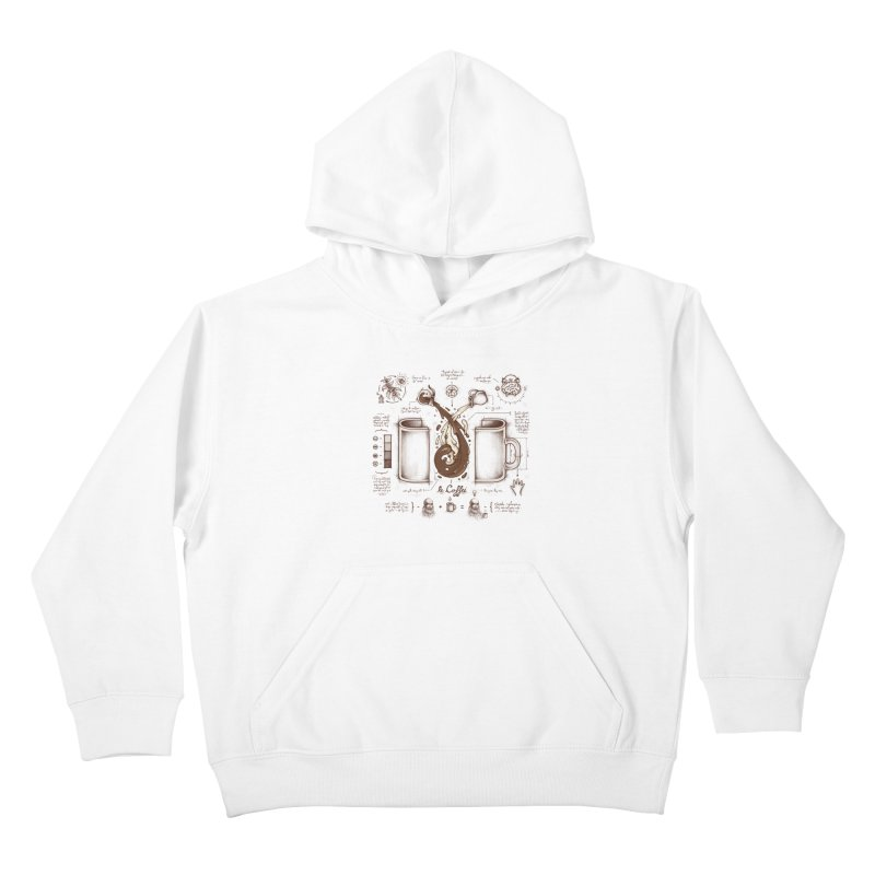 Le Coffee (Fluid of Creativity) Kids Pullover Hoody by Buko