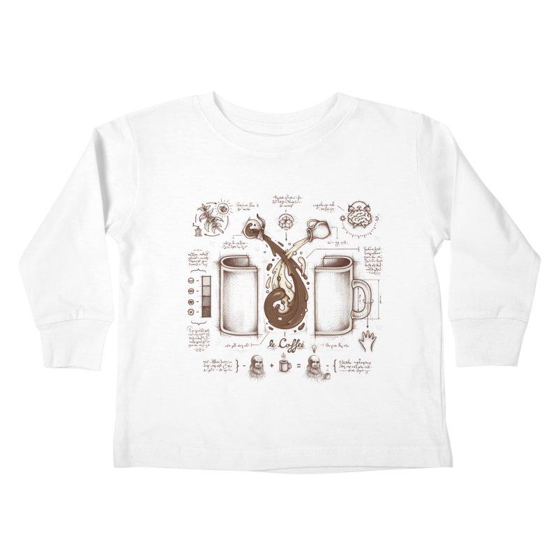 Le Coffee (Fluid of Creativity) Kids Toddler Longsleeve T-Shirt by Buko