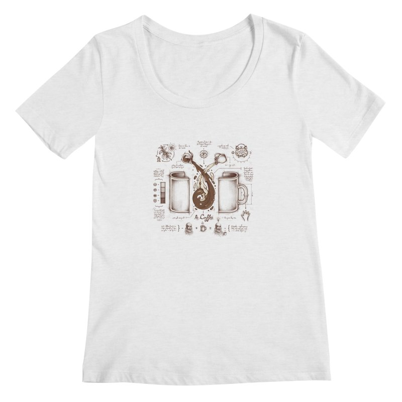 Le Coffee (Fluid of Creativity) Women's Scoopneck by Buko
