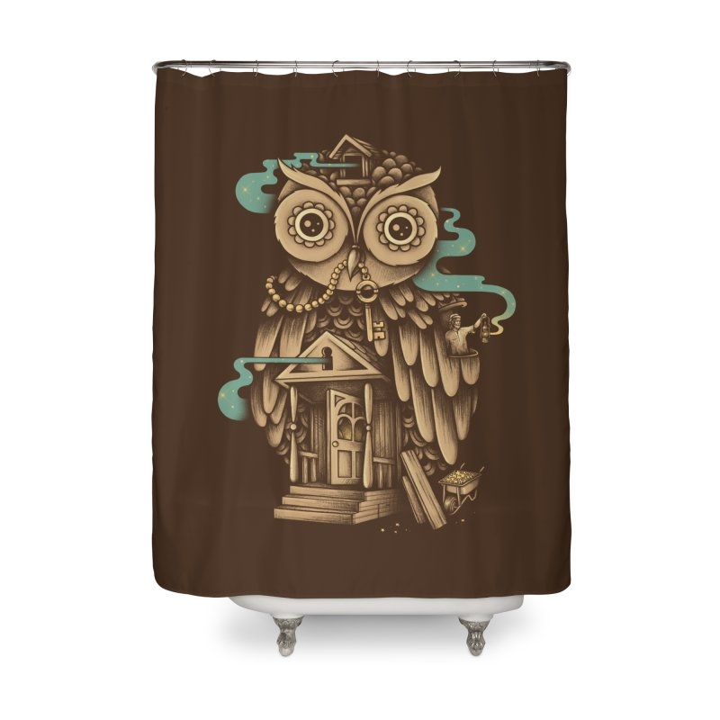 Night Watch Home Shower Curtain by Buko