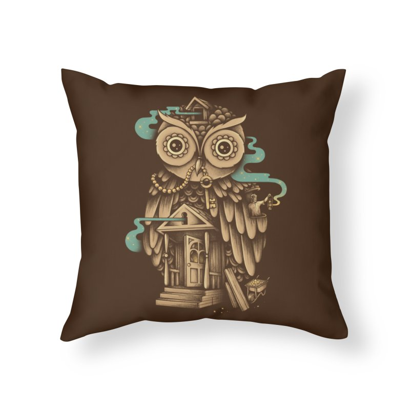 Night Watch Home Throw Pillow by Buko