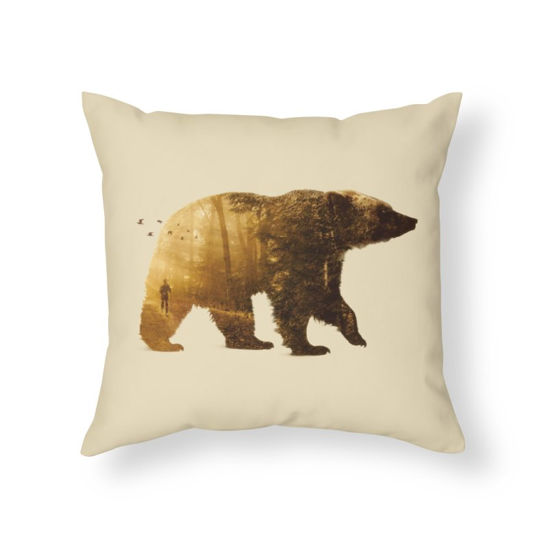 Into the Wild Home Throw Pillow by Buko