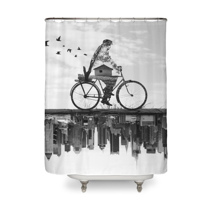 In Between Home Shower Curtain by Buko