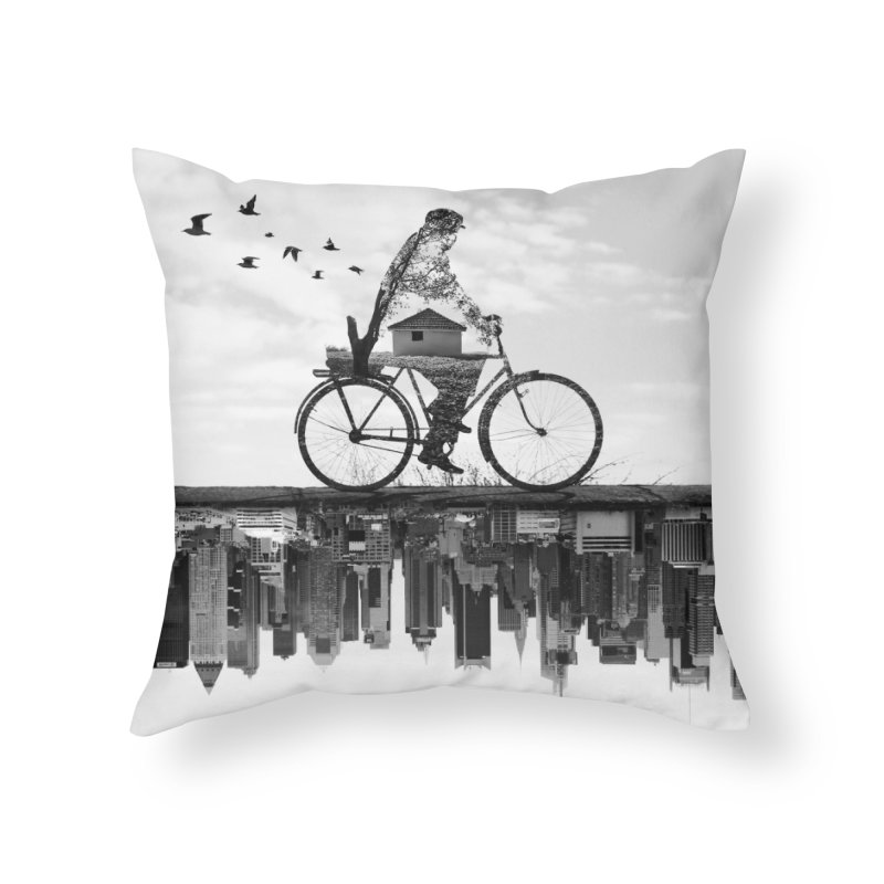 In Between Home Throw Pillow by Buko