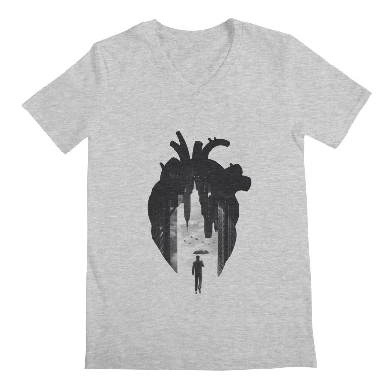 In the heart of the City Men's V-Neck by Buko