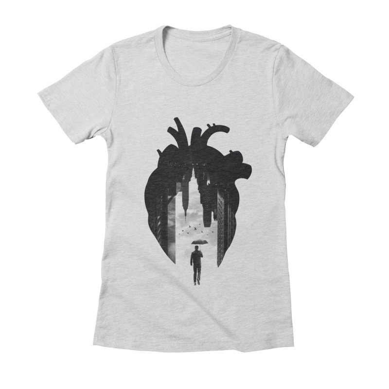 In the heart of the City Women's Fitted T-Shirt by Buko