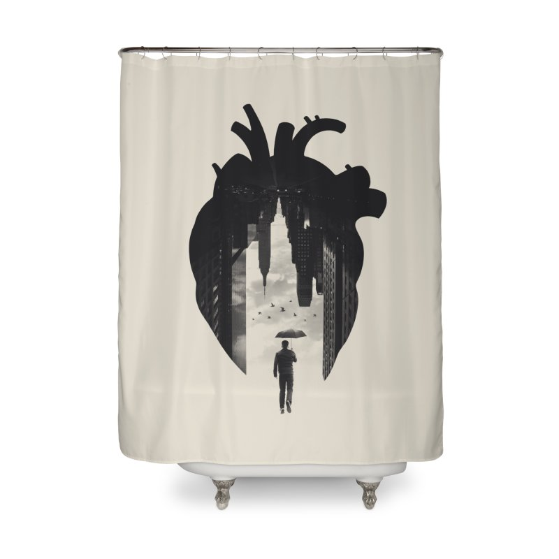 In the heart of the City Home Shower Curtain by Buko
