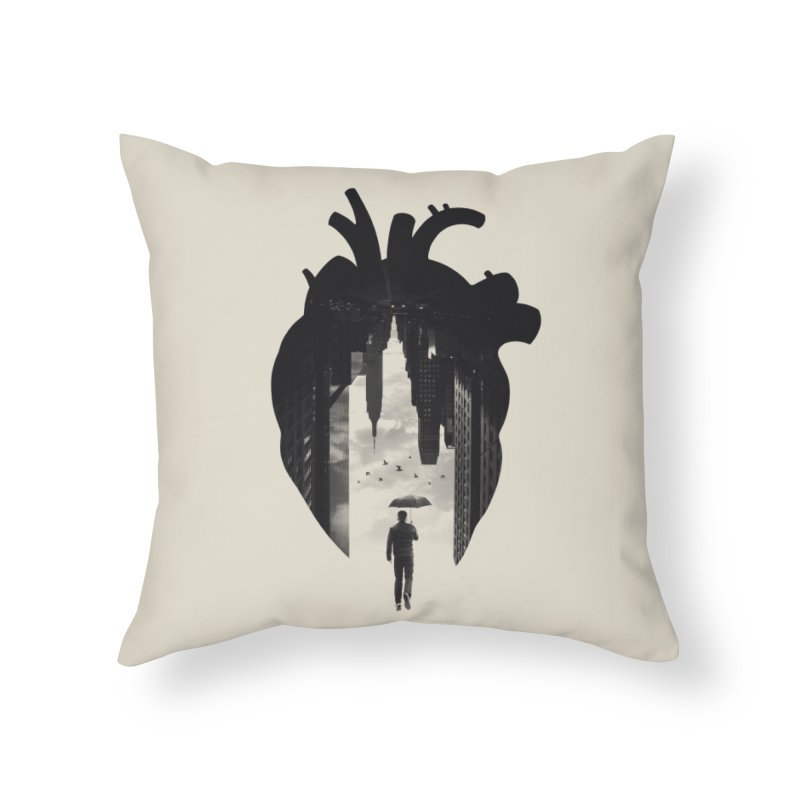 In the heart of the City Home Throw Pillow by Buko