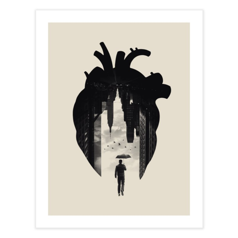 In the heart of the City Home Fine Art Print by Buko