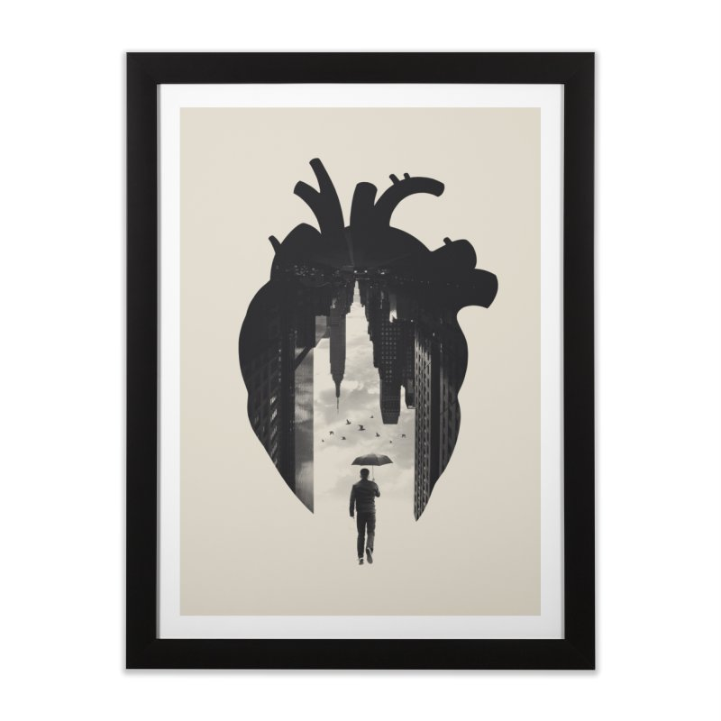 In the heart of the City Home Framed Fine Art Print by Buko