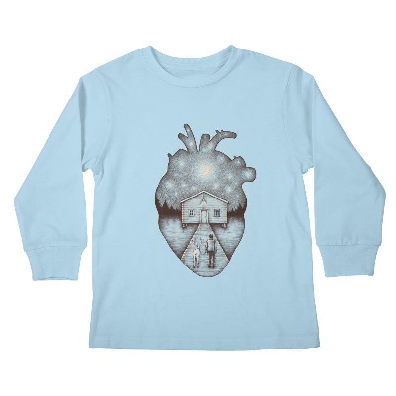 Finally Home Kids Longsleeve T-Shirt by Buko