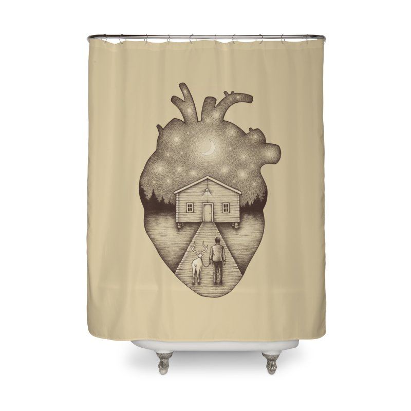 Finally Home Home Shower Curtain by Buko