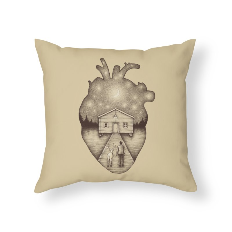 Finally Home Home Throw Pillow by Buko