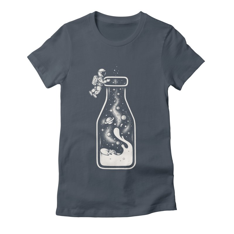 Milky Way Women's Fitted T-Shirt by Buko