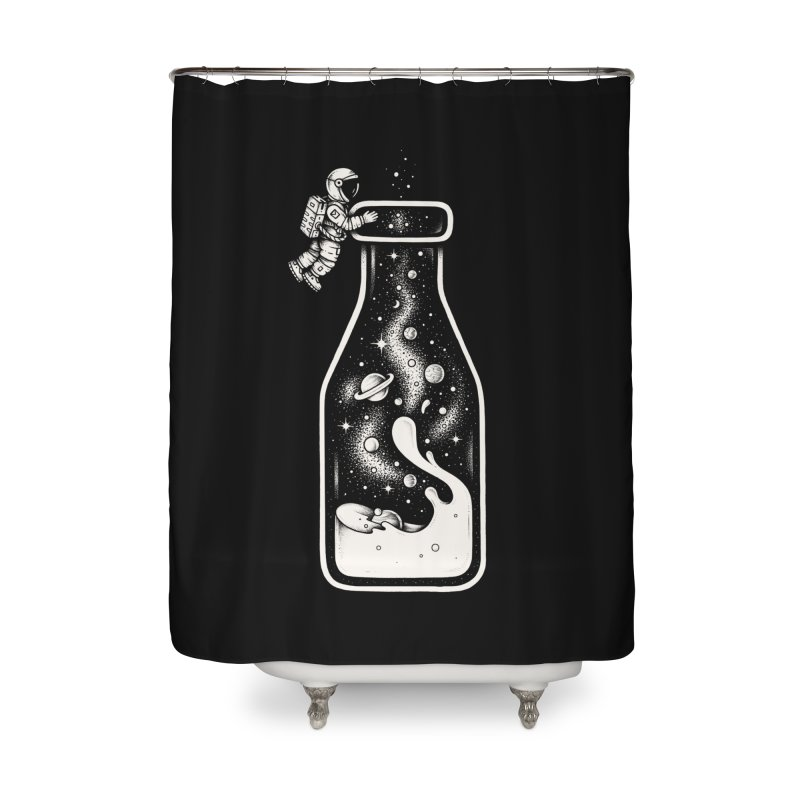 Milky Way Home Shower Curtain by Buko