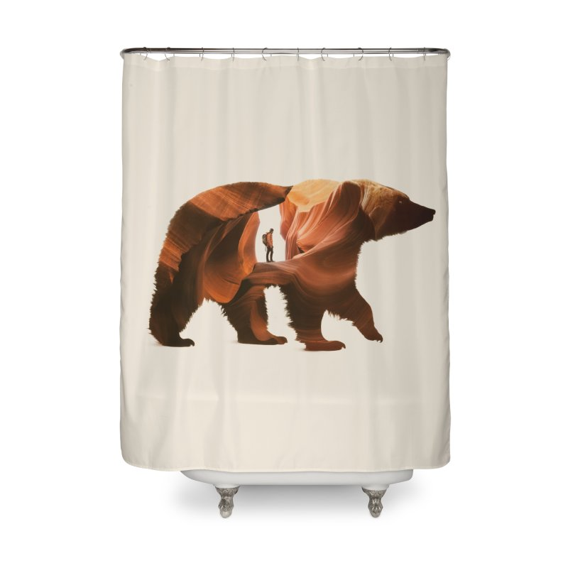 One with Nature Home Shower Curtain by Buko