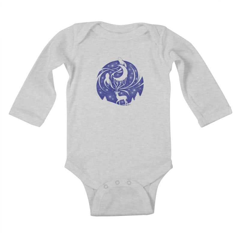 Spirits of the Night Kids Baby Longsleeve Bodysuit by Buko