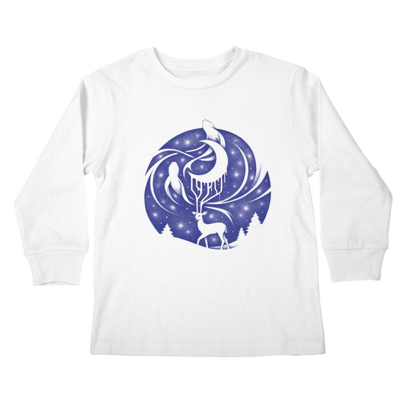 Spirits of the Night Kids Longsleeve T-Shirt by Buko