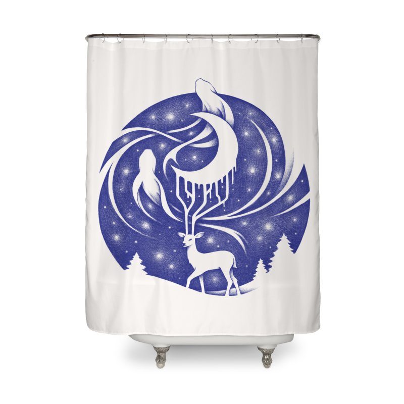Spirits of the Night Home Shower Curtain by Buko