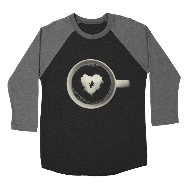 Coffee Break Women's Baseball Triblend T-Shirt by Buko