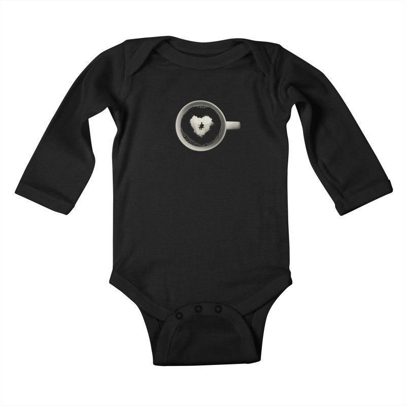 Coffee Break Kids Baby Longsleeve Bodysuit by Buko