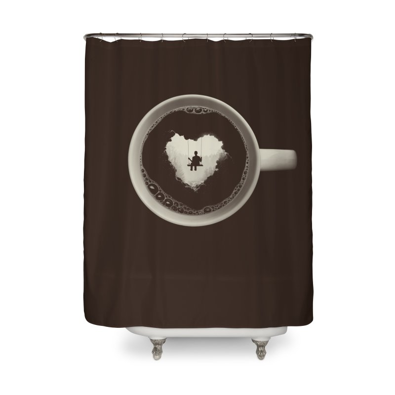 Coffee Break Home Shower Curtain by Buko