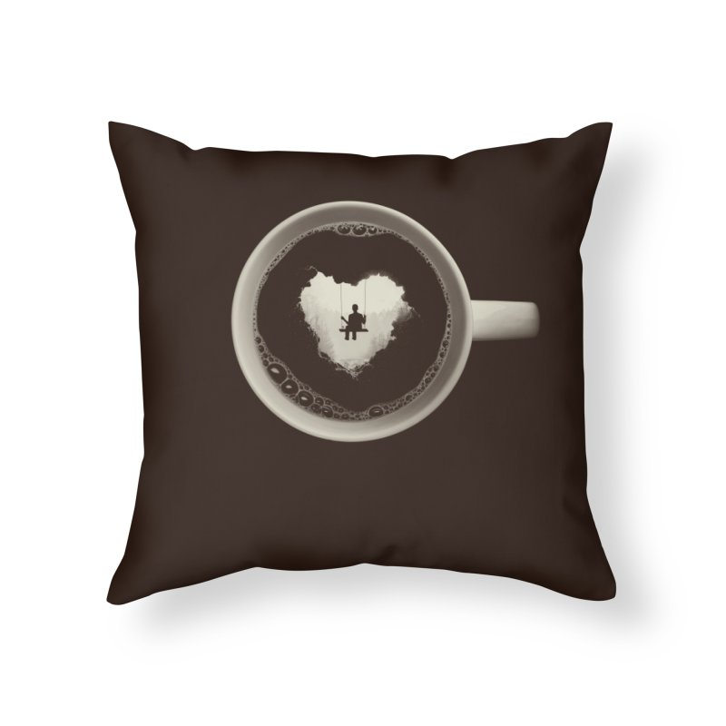 Coffee Break Home Throw Pillow by Buko