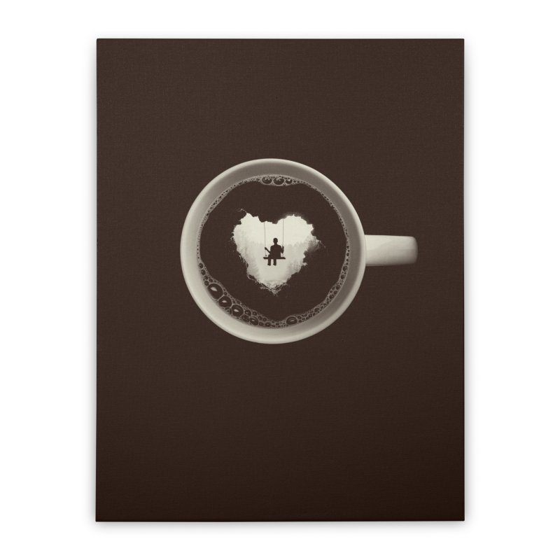 Coffee Break Home Stretched Canvas by Buko