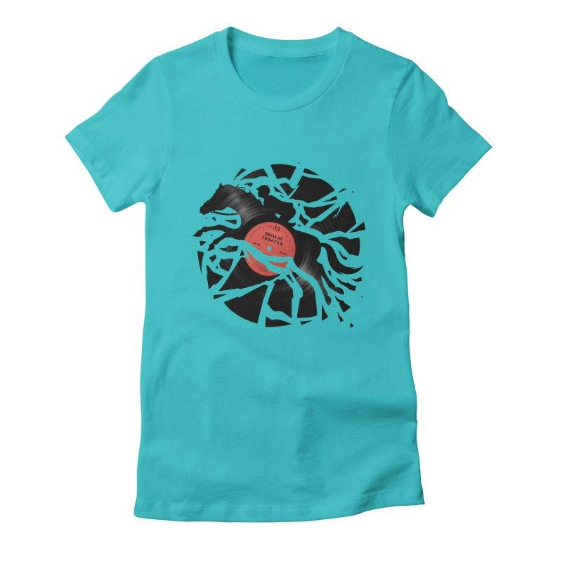 Disc Jockey Women's Fitted T-Shirt by Buko