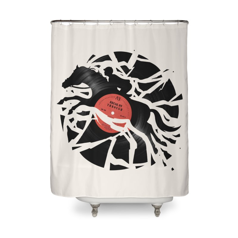 Disc Jockey Home Shower Curtain by Buko