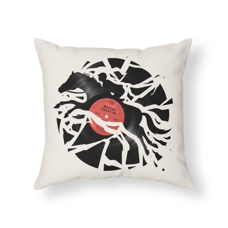 Disc Jockey Home Throw Pillow by Buko