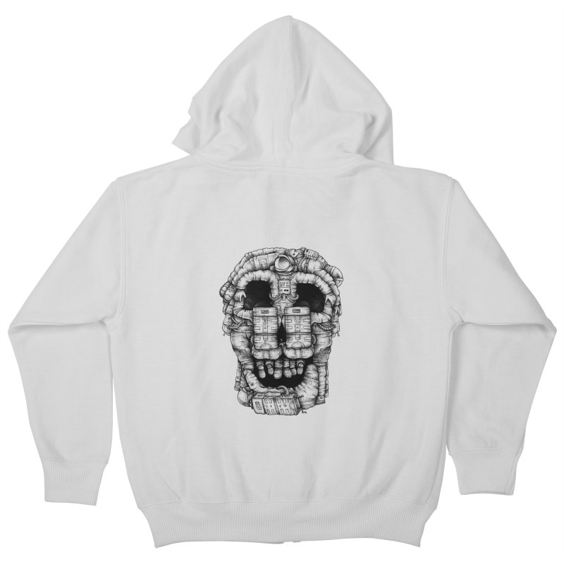 Voluptuous Death  Kids Zip-Up Hoody by Buko