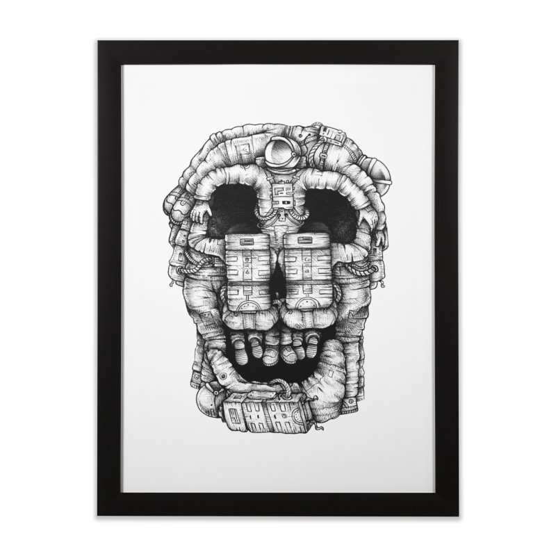 Voluptuous Death  Home Framed Fine Art Print by Buko