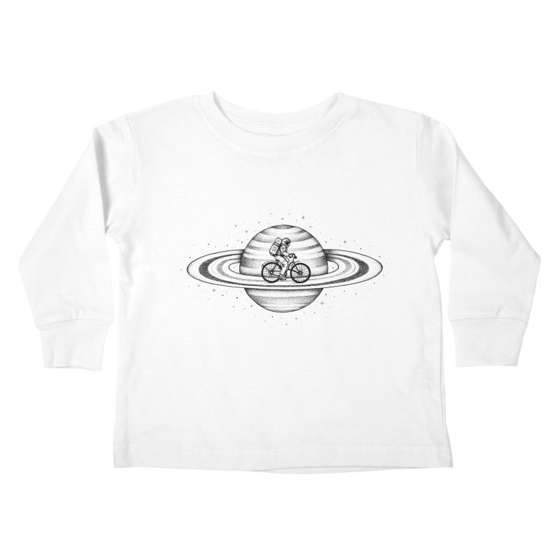 Space Ride Kids Toddler Longsleeve T-Shirt by Buko