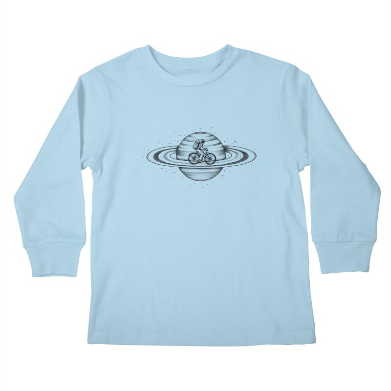 Space Ride Kids Longsleeve T-Shirt by Buko