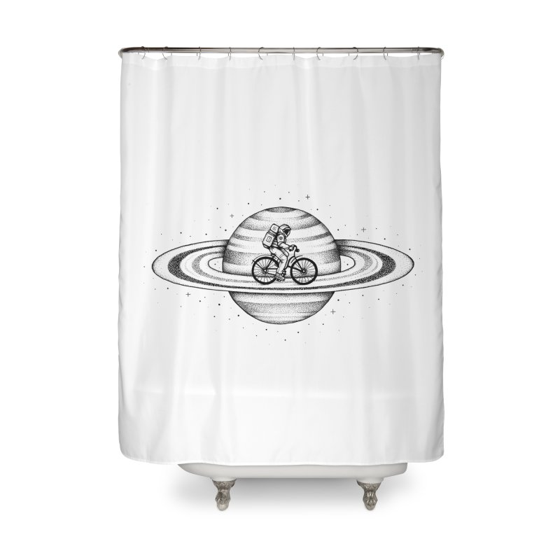 Space Ride Home Shower Curtain by Buko