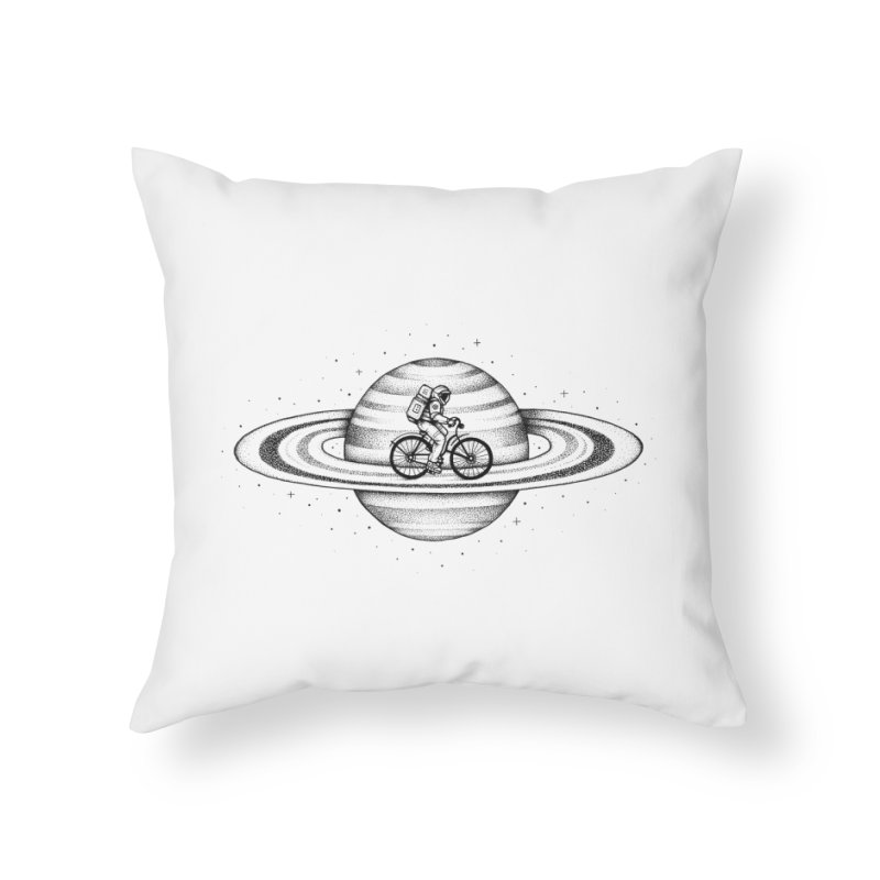 Space Ride Home Throw Pillow by Buko